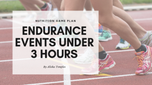 Nutrition Game Plan: Endurance events under 3 hours
