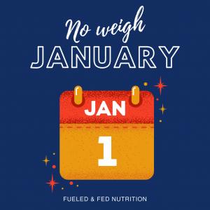 No weigh January challenge